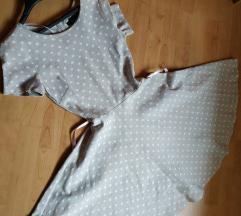 H&M haljina na tockice, vel S