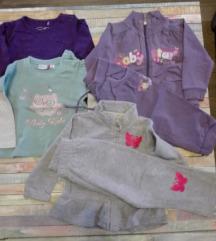 Dvije trenerke i dvije majice za djevojčice
