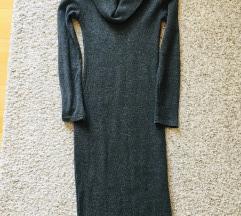 Siva midi pletena haljina vel XS-S
