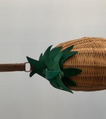 Zara ananas torbica od rafijr
