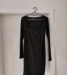 Crna mini haljina dugih rukava