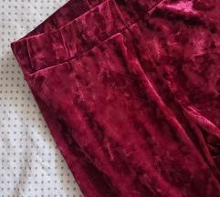Plišane bordo leggings (pt uključena)