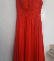 Duga crvena haljina xs/s
