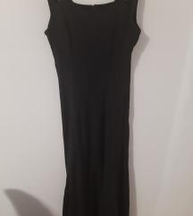 Midi crna haljina od viskoze m,lxl