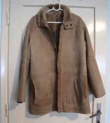 Muški smeđi kožni kaput veličina M