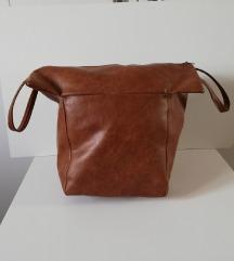 Putna torba boje konjaka - sa dvije ručke - na cif