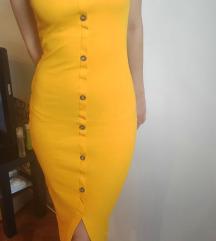 Uska žuta haljina
