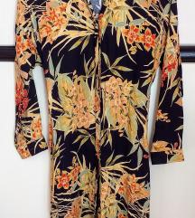 ZARA floral jesenjska haljina