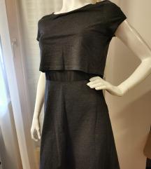Siva antracit haljina