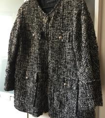 Prekrasan oversized ZARA vuneni kaputić, S/M