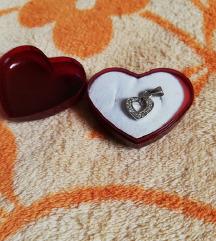 Srebrni privjesak srce