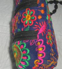 torbica platnena boho strojni vez