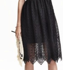 HM lace midi skirt