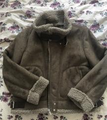 Zara smeda kozna jakna  XL