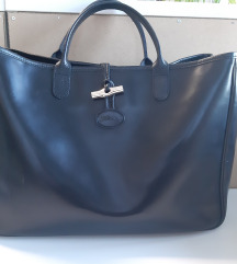 Longchamp velika XL crna kožna torba