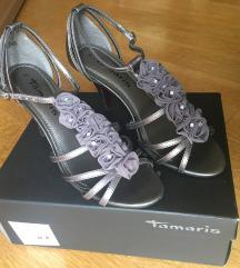 Tamaris srebrne sandale (plesne)