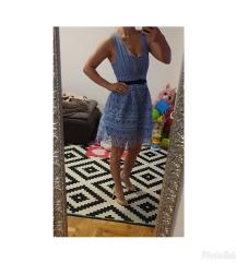 Self portrait mini cipkasta baby blue haljina