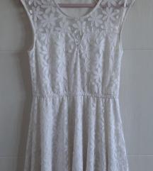Bijela romantična haljina, lepršava