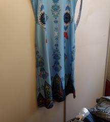 duga plava boho haljina