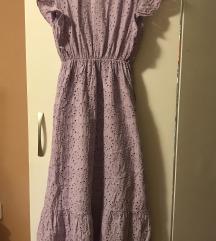 Lila haljina s ažurom