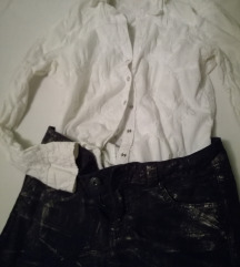 ESPRIT jeans sjajni i kosulja embroided