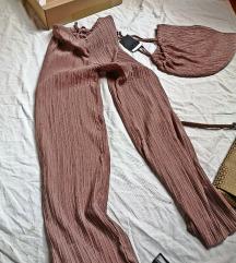 Plisirane piđama hlače Zara