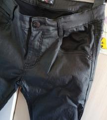 NY W sjajno crne hlače XL