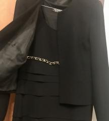 Komplet/mala crna haljina i sako