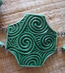 Ogrlica - ručni rad - pečena keramika