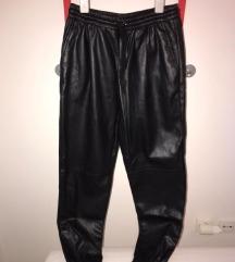 Kožne široke hlače