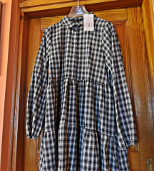 predimenzionirana karirana haljina Zara