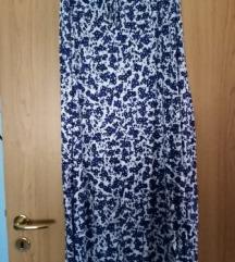 Plavo bijela maxi suknja