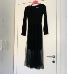 Stradivarius crna duga haljina til