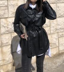 Zara kožna jakna/natkošulja