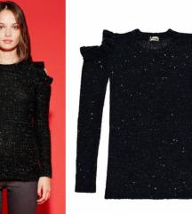 Crni sjajni džemper