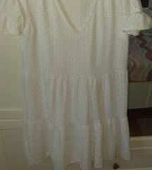 Pull&bear bijela čipkasta haljina M