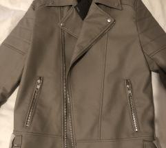 Siva kozna jakna