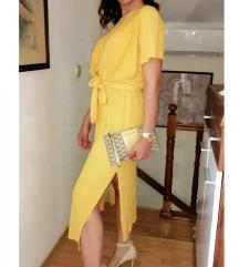 Bershka žuta haljina
