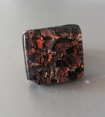 Murano black gold prsten