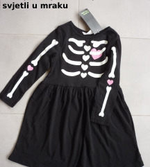 H&M helloween haljina, 6-8 g.,122/128