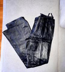Kožne hlače visokog struka L