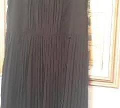 Crna plisirana haljina m