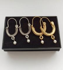 LOT tradicijskih naušnica (zlatne i srebrne)
