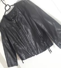 Crna motoristička kožna jakna vel. S