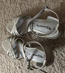 Tamaris sandale kožne sive 38