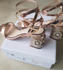 Miss Selfridge %% block sandale jednom nošene