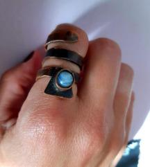 Bakar ahat prsten boho
