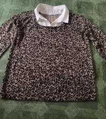 Divni leopard sweater košulja xl
