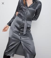 Zara satenska haljina