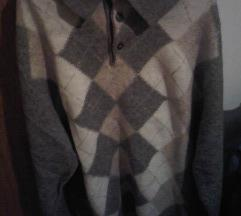 Muški tanji smeđe-krem pulover vel. M/L